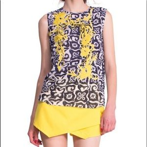 DESIGUAL Navy Graphic Tank Top NWT Size S